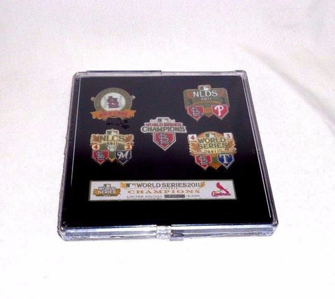 St Louis Cardinals 2011 World Series Champions 5 Pin Set Limited Edition FREESHP