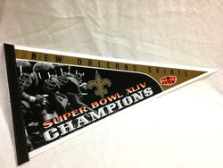 2009 Superbowl 44 World Champions New Orleans Saints Pennant FREESHIP
