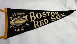 RARE 1950s Vintage Fenway Park Boston Red Sox Wool Pennant Black Color FREESHIP