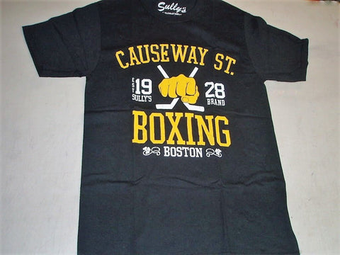"Boston Bruins Themed "" Causeway Fight Club "" Boxing T Shirt Size Medium FREESHIP"