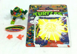 1990 Teenange Mutant Turtles TMNT Mike Sewer Surfer Complete Figure Cardback