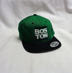 NEW Boston Retro Run DMC Type Logo Green Adjustable Hat Cap Celtics FREESHP