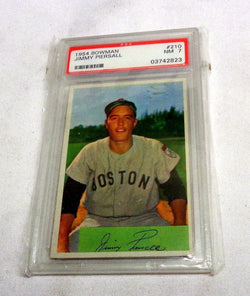 1954 Bowman #210 Jimmy Piersall PSA 7 Boston Red Sox Fenway Park FREESHIP