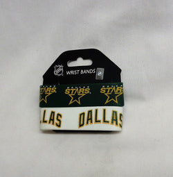 NHL Dallas Stars 2 Pack Bracelet Wrist Bands Set Rubber PVC Type FREESHIP