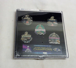 2013 Season Baltimore Ravens Super Bowl 47 World Champions 5 Pin Set FREESHIP