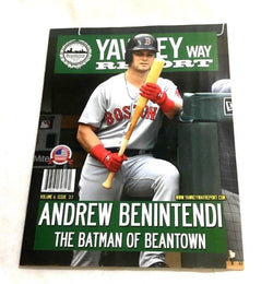 July 2018 Yawkey Way Report Red Sox Program Magazine Andrew Benintendi Cover
