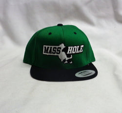 NEW Boston Masshole Flat Brim Cap Hat Type Black Green Color FREESHIP