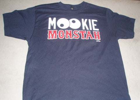Boston Fenway Mookie Monstah Red Sox Player Betts T Shirt Size Large FREESHIP