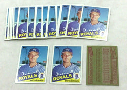 1985 Topps #23 KC Royals Bret Saberhagen Rookie Rc Card 25 Piece Lot FREESHIP