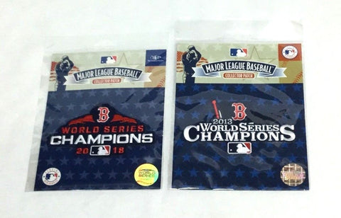 2013 2018 World Series Champions Jersey Patch Lot Boston Red Sox FREESHP
