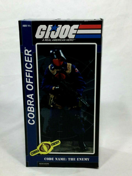 Sideshow GI Joe Cobra Officer Soldier Figure Doll 1:6 Scale NEW Boxed Sealed MIB