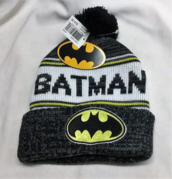 DC Comics Batman Logo Winter Knit Cap Hat Beanie Black Cuffed FREESHP