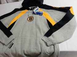 Blue Line NHL Boston Bruins Grey Hoodie Hooded Sweatshirt Mens XLarge FREESHIP