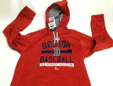meet 8cf87 3670b Boston Red Sox Majestic Field Therma Base Hoodie Hooded ...