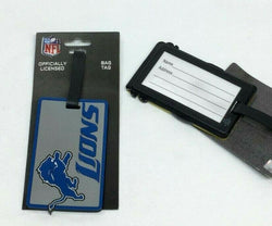 NFL Detroit Lions Luggage Tag Travel Bag ID Golf Tag FREESHIP