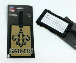NFL New Orleans Saints Luggage Tag Travel Bag ID Golf Tag FREESHIP