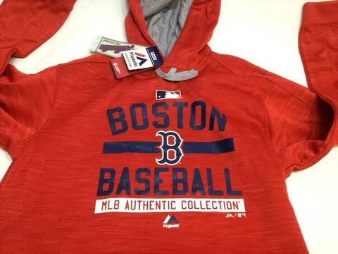 meet c16a5 495c0 Boston Red Sox Majestic Field Therma Base Hoodie Hooded ...