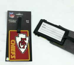 NFL Kansas City Chiefs Luggage Tag Travel Bag ID Golf Tag FREESHIP