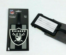 NFL Oakland Raiders Los Angeles Luggage Tag Travel Bag ID Golf Tag FREESHIP