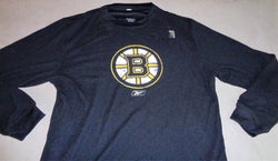 NEW Reebok Boston Bruins Black Long Sleeve Thermal T Shirt Size Medium FREESHIP