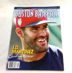 April 2018 Fenway Park Boston Baseball Red Sox Program Scorecard JD Martinez