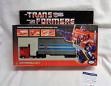 Reissue G1 Transformers Optimus Prime Peter Cullen Autographed Signed Box PSA