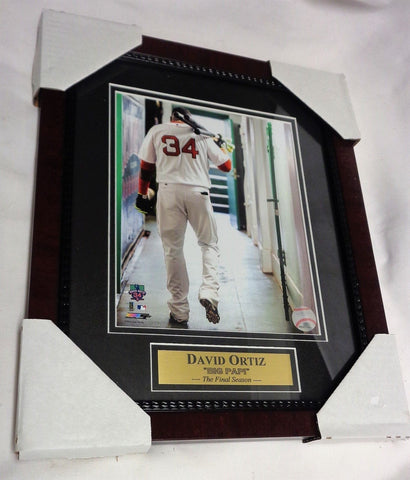 Fenway Park Red Sox David Ortiz Retirement Dugout Framed Matted Picture 13x16