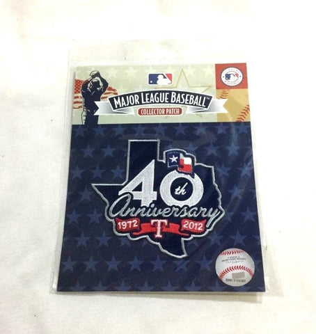 1972 to 2012 Texas Rangers 40th Season Anniversary Jersey Patch FREESHIP