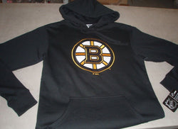 "NHL Boston Bruins BLACK ""B"" Cotton Hoodie Hooded Sweatshirt Mens Medium FREESHIP"