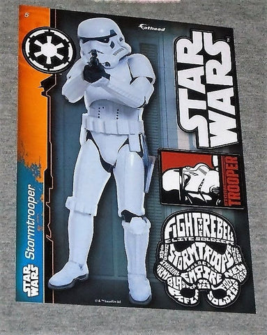 Star Wars Stormtrooper #5 Fathead 5x7 Inch Vinyl Decal Wall Graphic FREESHIP