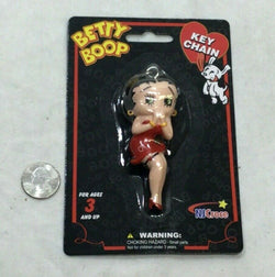 New Betty Boop Classic Pose Pin Up Cartoon 3D Figure Keychain Rubber FREESHIP