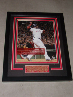 Fenway Park Boston Red Sox David Ortiz Field Dirt Game Used Plaque Feel The Game