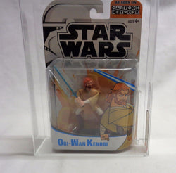 2004 Star Wars The Clone Wars Animated Series Ben Obi-Wan Kenobi Figure AFA 8.5