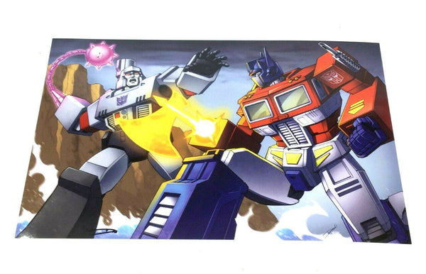 G1 Transformers Optimus Prime vs Megatron Laser Ax Battle Poster 11x17 FREESHIP