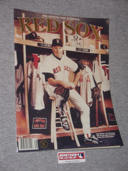1993 Official Boston Red Sox Yearbook Fenway Park Roger Clemens FREESHIP