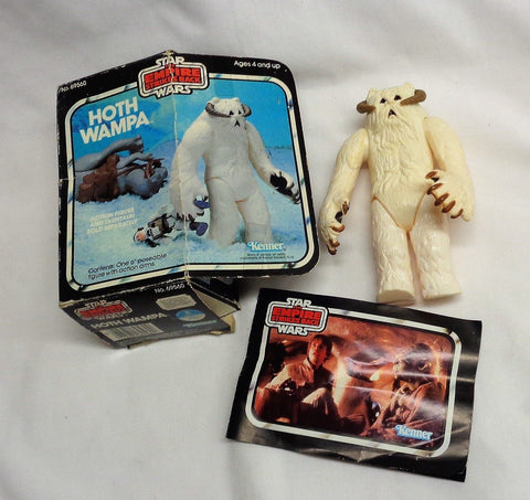 Vintage 1981 Star Wars ESB Hoth Wampa Figure Boxed w Catalog White Color FREESHP