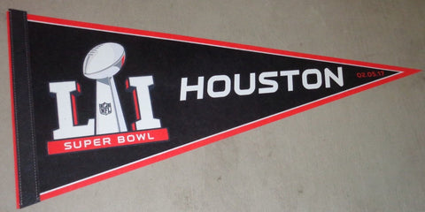 2016 Superbowl 51 Houston Texas Pennant Flag Patriots / Falcons (C) FREESHIP
