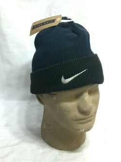New Nike Golf Winter Knit Cap Hat Beanie PomPom Cuffed RARE Early 2000s Issue