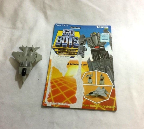 1983 Tonka Gobots Leader 1 Friendly Robot F-15 Jet Cardback Complete FREESHIP