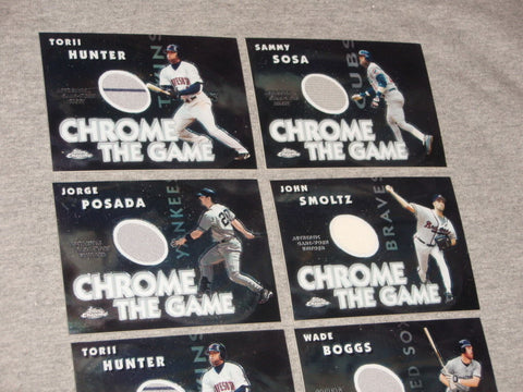2005 Topps Chrome The Game Used Jersey 8 Card Lot Posada Boggs Smoltz Bagwell