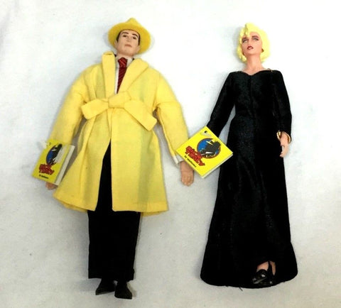 1990 Applause Dick Tracy Breathless Mahoney Doll Lot with Tags 14 Inch FREESHIP