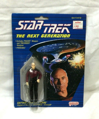 1988 Galoob Star Trek The Next Generation TNG Captain Picard Figure MOC Sealed