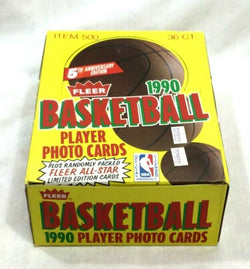 NBA 1990 1991 Fleer Basketball Wax 36 Pack Box Possible Jordan Card FREESHIP
