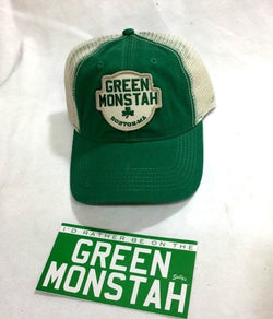 Red Sox Fenway Park Green Monster Monstah Truckers Hat Cap Sticker Decal Lot