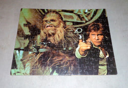 1977 Vintage Kenner Star Wars Jigsaw Puzzle Complete Mounted Han Solo Chewbacca