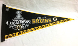 Limited Edition 2011 Stanley Cup Champions Boston Bruins Pennant Trophy Logo