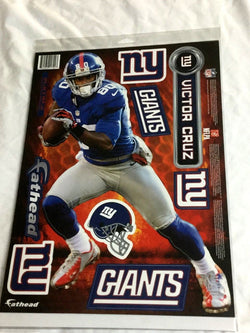 Fathead 17 Inch Sticker Wall Decal Set New York Giants Victor Cruz FREESHIP