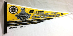 NHL 2011 Stanley Cup Champions 6X 6-Time Boston Bruins Pennant FREESHIP