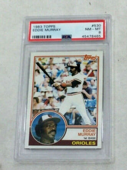 1983 Topps Baseball #530 Baltimore Orioles Eddie Murray Card PSA 8 FREESHIPPING