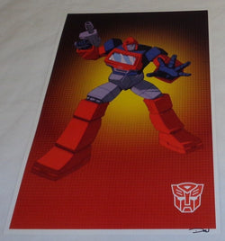 G1 Transformers Autobot Ironhide Poster 11x17 Box Art Grid FREESHIPPING